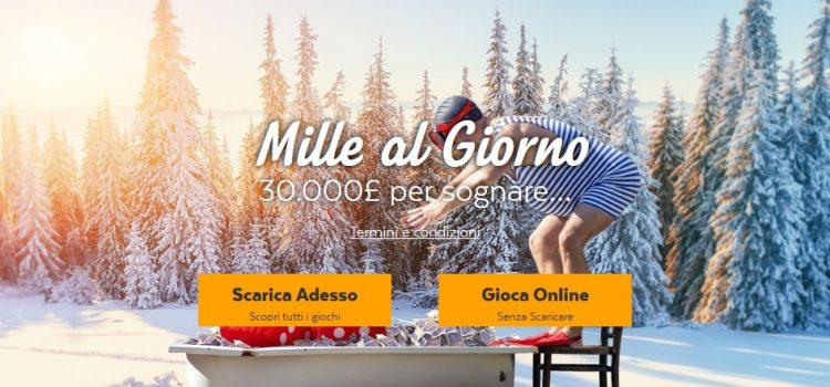 32red Casino, bonus 1.000€ al giorno